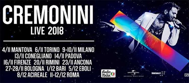 Cesare Cremonini Live Tour 2018