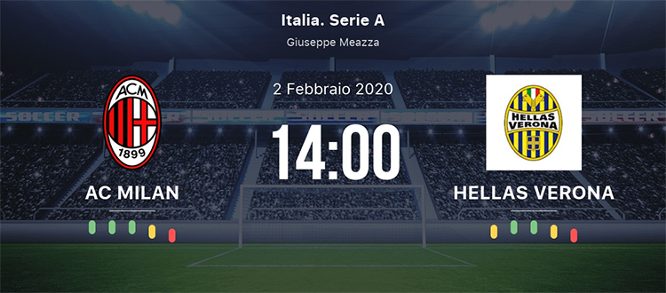 Milan Hellas Verona 2 Febbraio 2020